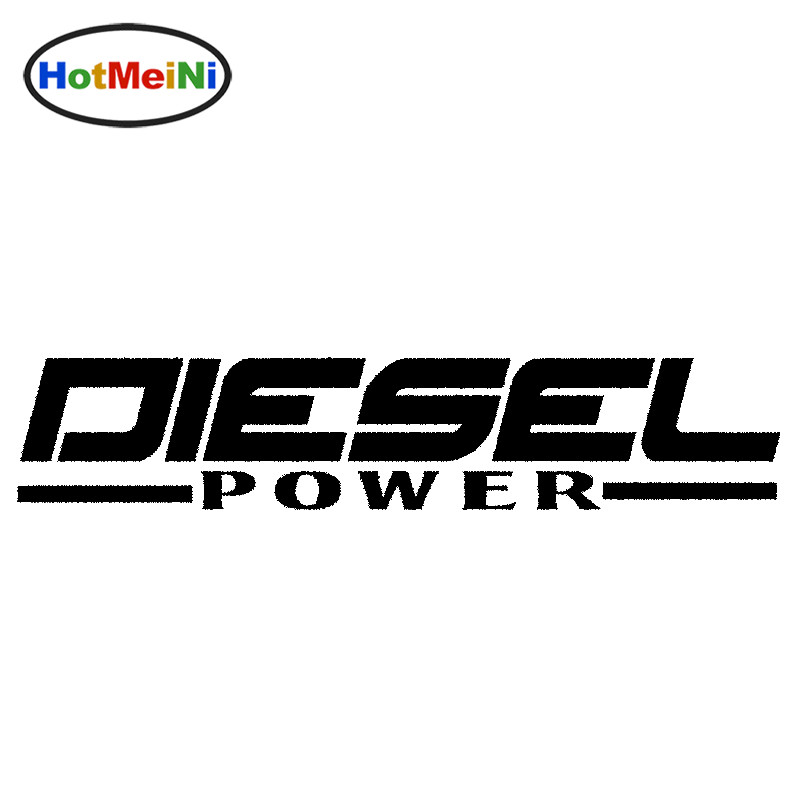HotMeiNi 18*3.5cm Diesel Power JDM Vinyl decal Car Sticker Powerstroke Truck Diesel Soot Stacks Black/Sliver Styling Accesso