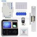 DIYSECUR Электрический блокировка отпечатков пальцев 125 кГц считыватель ID карт система контроля допуска к двери комплект + пульт дистанционног...