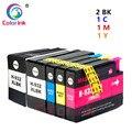 Цвет чернил 5PK для hp 932XL 933XL 932 переработанного чернильного картриджа для hp Officejet 6100 6600 6700 7110 7610 7612 7510 7512 принтер чернила
