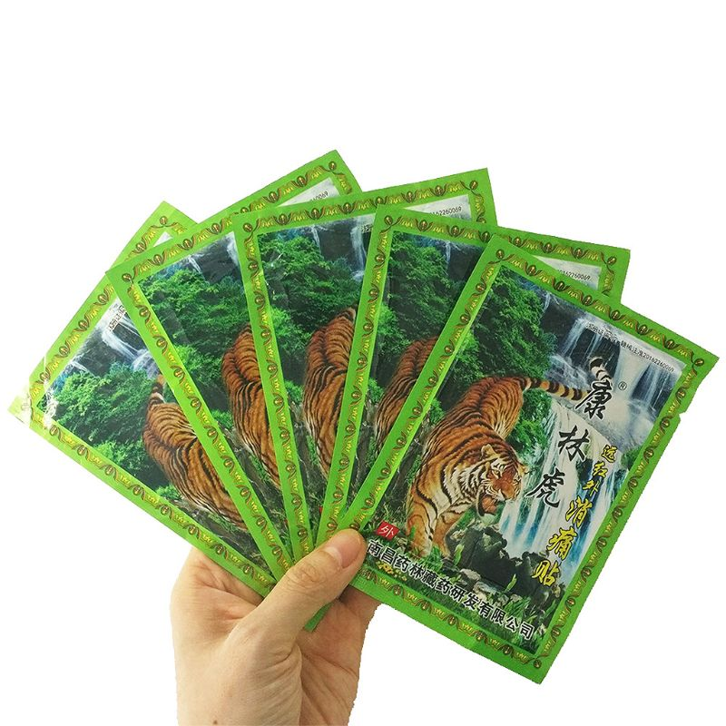 8Pcs/1Bag Chinese Traditional Plaster Tiger Balm Joint Pain Muscle Massage Relaxation Capsicum Herbs