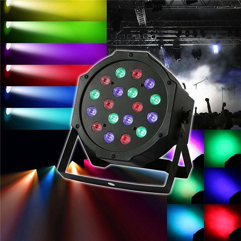 Tanbaby DMX Controlled LED Par Light 18W Multicolor DJ PAR Stage Lighting AC100-240V Dance DJ Party Lights EU or US