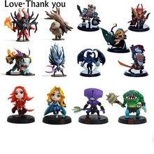 Original WOW Estilos Jogo RPG Figura Kunkka 2 Lina DOTA Pudge Rainha CM FV Modelo Coleção Figuras de Ação Brinquedos para presente das crianças