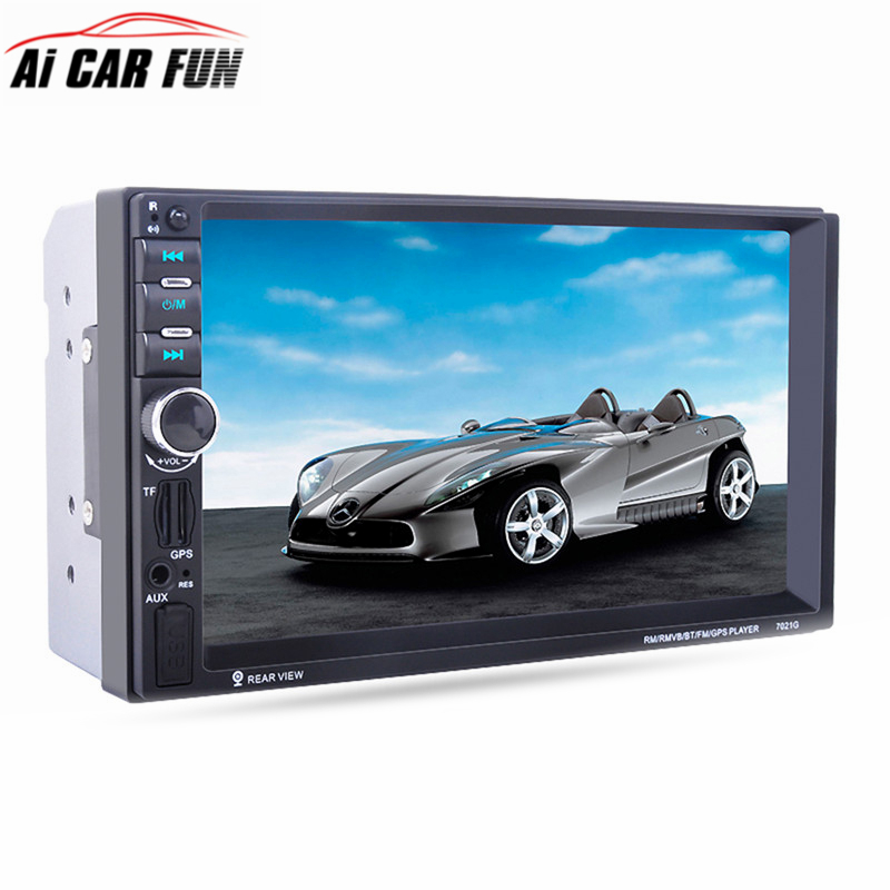 7021G 7 inch 2 Din Car MP5 Player GPS Navagation Bluetooth Auto Multimedia Player with FM Radio Rear View Camera Remote Control 7021g 2 din car multimedia player with gps navigation 7 hd bluetooth stereo radio fm mp3 mp5 usb touch screen auto electronics