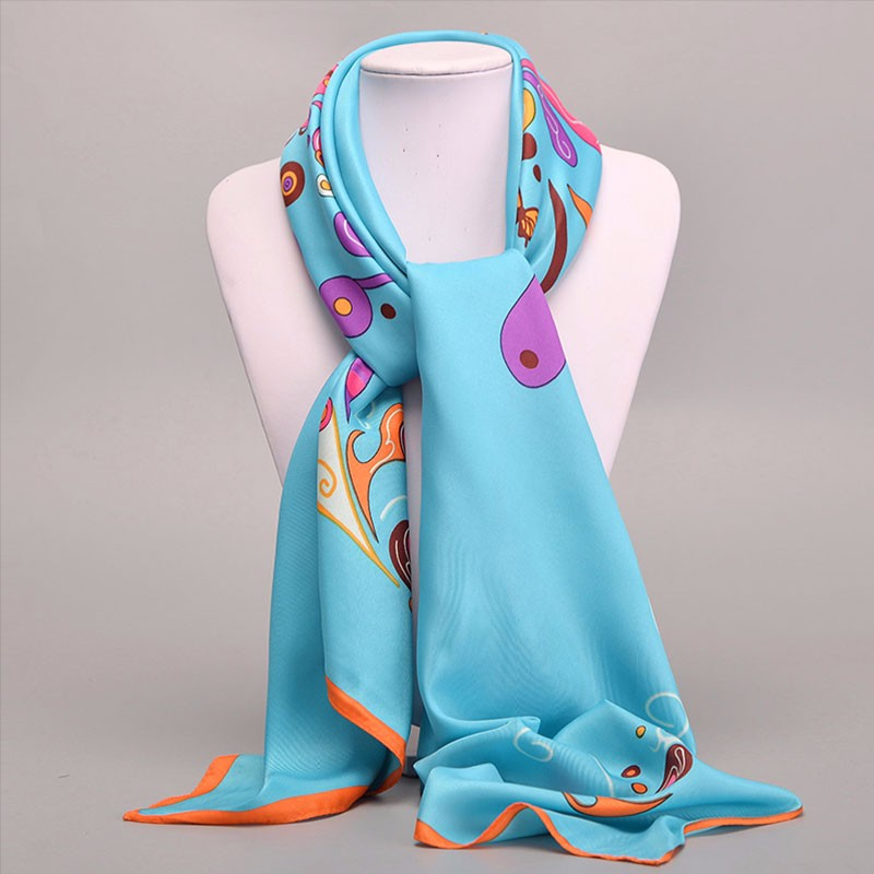 Fashion Large Square Twill Silk   Scarf   Women 100*100 Original Brand Euro Bohemian Cashew Printed Ladies Shawls And   Scarves     Wraps