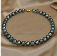 2bbacd76535f 18 10 12 Mm Tahitian Black Green Pearl Necklace. Collar de perlas ...