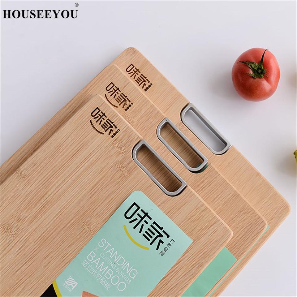 Houseeyou Standing Cutting Board Bamboo Wood Chopping