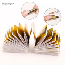 100 шт Профессиональные наклейки для ногтей, акриловая кривая, гель для наращивания ногтей, лак для ногтей, направляющие формы для завитков Z10