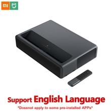 Оригинальный Xiaomi Mijia 4 K лазерный проекционный домашний кинотеатр 150 дюймов Wifi Bluetooth английский интерфейс 3D проектор HDR Поддержка DTS
