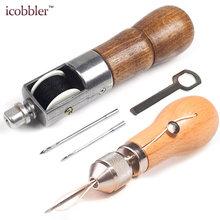 9f9113ba52 DIY de coser de cuero herramienta de mano de cuero máquina de coser hilo  encerado para