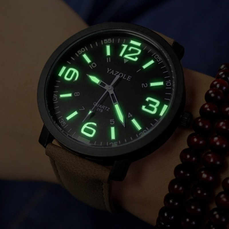 YAZOLE Luminous Watch Men Watch Casual Sport Watches Fashion Men's Watch Male Clock Erkek Kol Saati Reloj Hombre Hot Sale