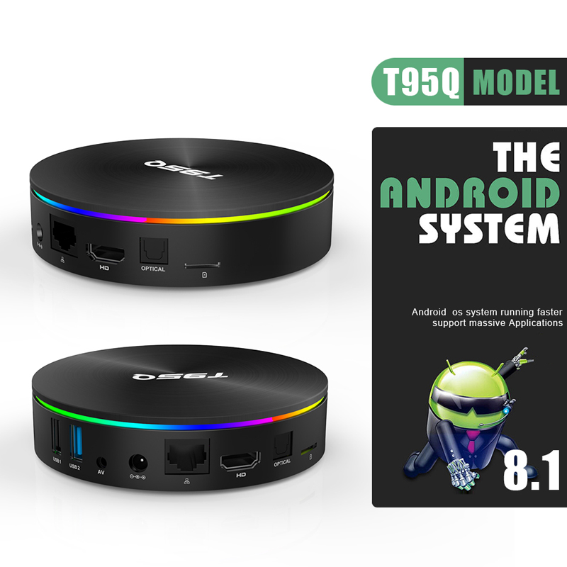 T95Q Amlogic S905X2 4GB 32GB 64GB Android 8.1 TV Box Support 5.8G AC Wifi Bluetooth 4.1 4K 3D Movie Streaming-in Set-top Boxes from Consumer Electronics