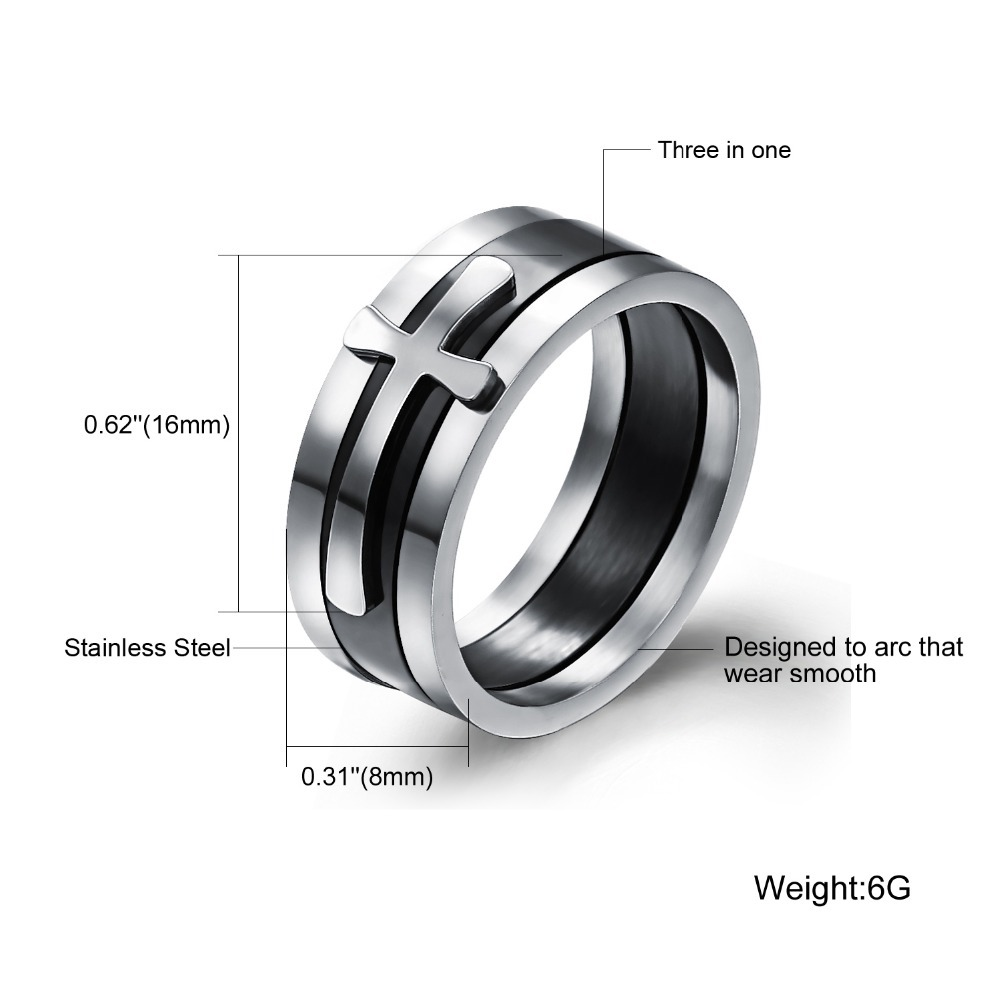 TrustyLan Brand New Black Ring Man Fashion Male Jewelry ...