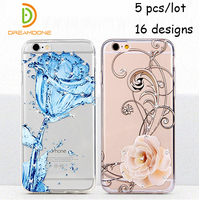 Luxe Ultradunne Clear Crystal Rubber telefoon case voor iphone 7 plus 7g 6g plus 6 s 5 s plus transparante TPU Soft Mobiele Telefoon Case