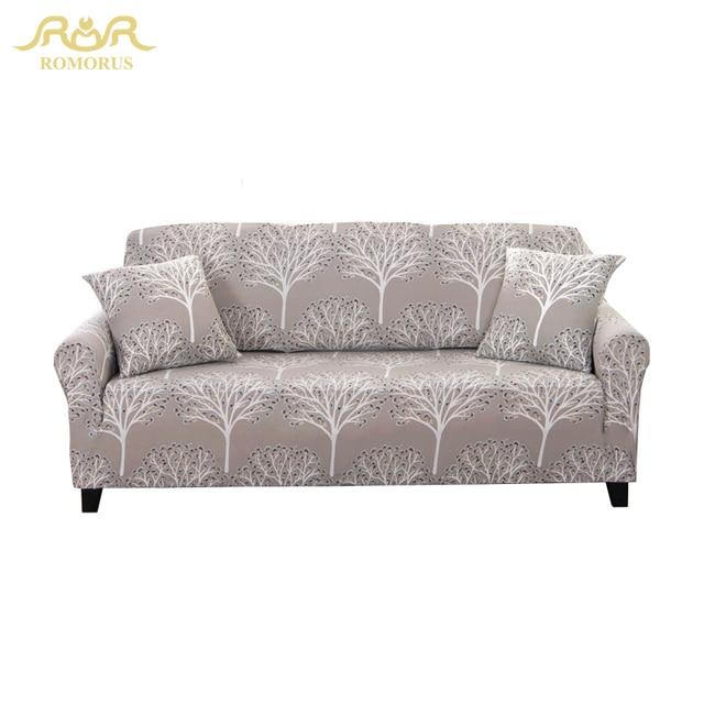 Romorus Stretch Sofa Cover Furniture European Art Print New Cloth Machine Washable