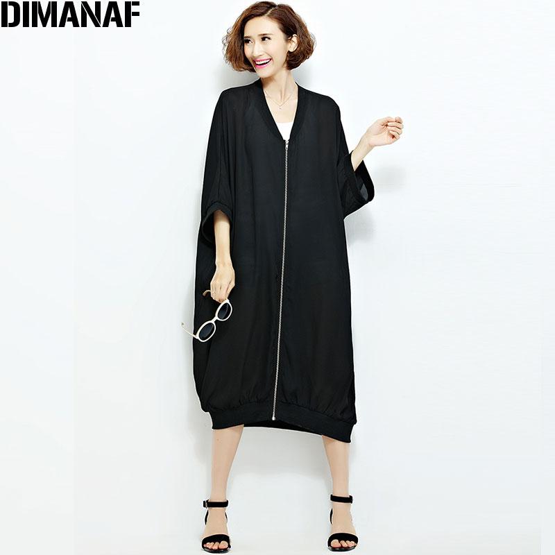 Ljeto Šifon Kaputi Ženska Duge džemper Plus veličina Čvrsta - Ženska odjeća - Foto 6