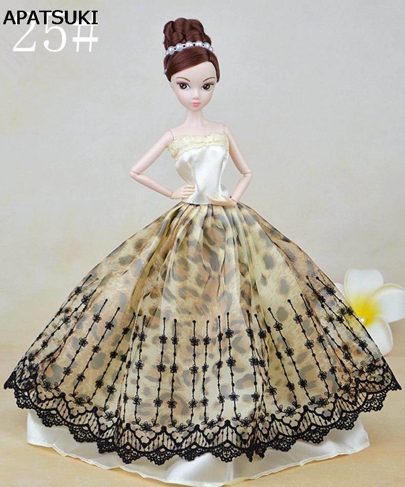 ▻Moda muñeca vestido hecho a mano vestido de boda princesa ropa ...