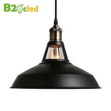2016 новые Промышленные стиле ретро Искусство Подвесной светильник черный белый Эдисон лампочка Американская деревня лампы Подвесные Светильники светильники