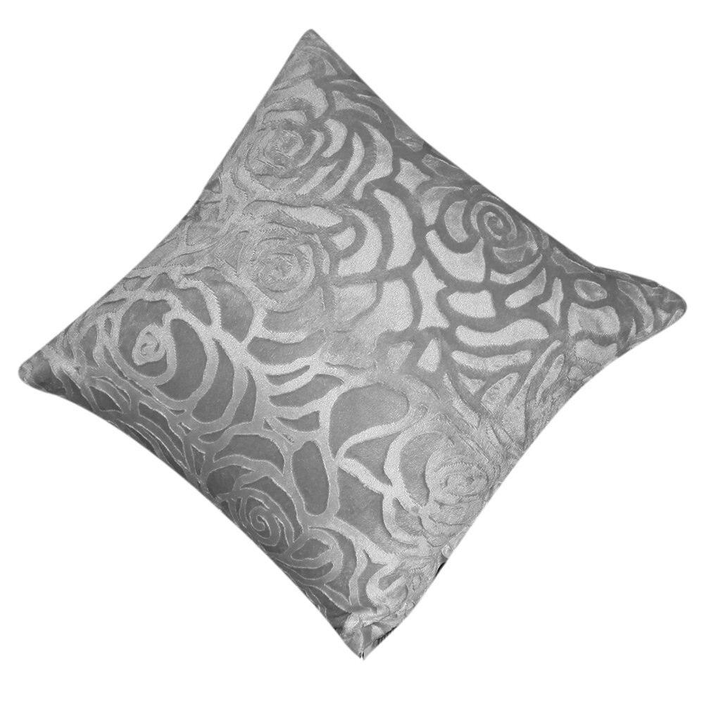 Пледы Наволочки квадратный Чехлы для подушек В виде ракушки автомобиля домой (серебристо-серый)