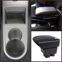 For Skoda Rapid armrest box central Store content box with cup holder ashtray USB Rapid armrests box