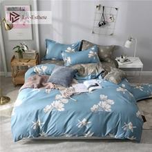Liv-Esthete Fashion Flower Series Bedding Set Duvet Cover Bedspread Flat Sheet Double Queen King Adult kids Bed Linen For Girl цены