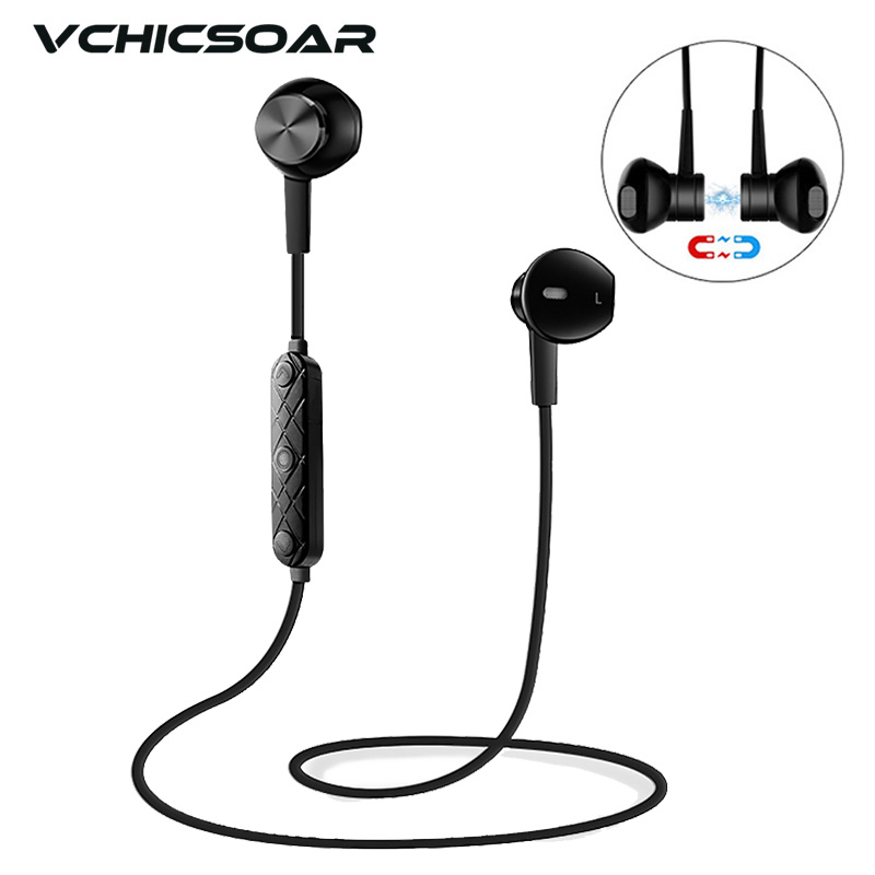 Vchicsoar i8 Sports Wireless Bluetooth Earphones V4.1 Stereo Running Headset Magnet Noise Reduction Earbuds with Mic for xiaomi поп фильтр samson ps01 pop filter
