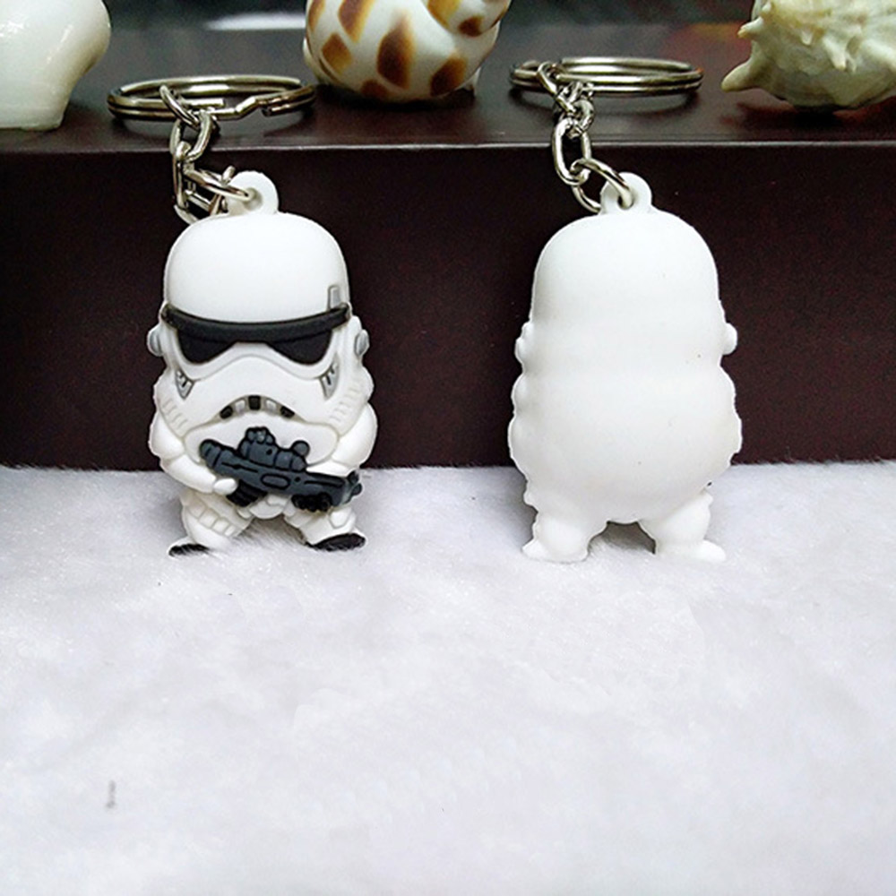 Suti 1pcs Star War Keychain Darth Vader Storm Trooper Action Minifigure Keyring Star War Action Figures Toy Gift Llavero Selected Material Key Chains