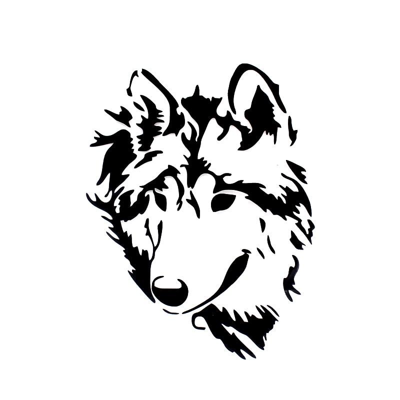Dw 014 Tribal Wolf Decals Vinyl Car Stickers Funny Windows Door Suv