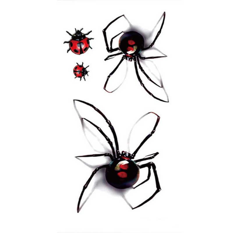 1 גיליון גבר אישה סקסי זמני קעקוע מדבקות עמיד למים מזויף עכביש פרת משה רבנו גוף אמנות פלאש קעקועים מדבקת 789