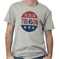 Treason Donald Trump Anti Trump Russia Collusion USA Election T Shirt Tee Fashion Style Men Tee,100% Cotton Classic tee