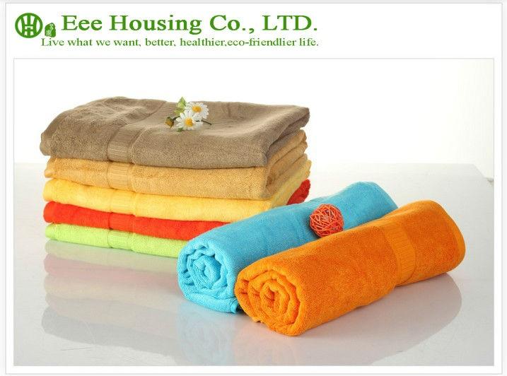 Free Shipping, 620g Thicken Bamboo Fiber Bath Tower, Eco-friendly 70cm*140cm,anti-bacterial Bamboo Towel, Sent Randomly