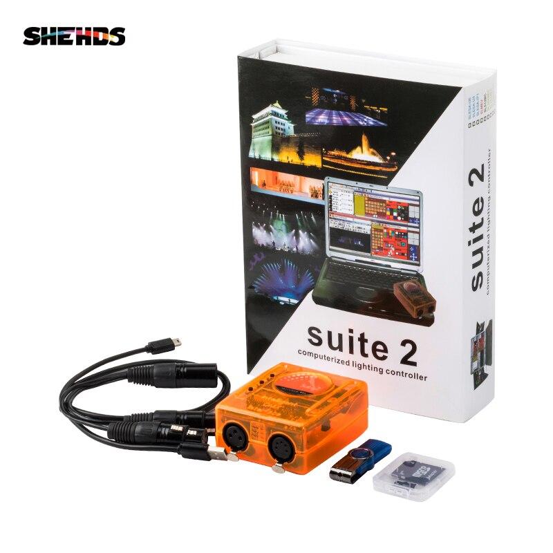 Этап управления программным обеспечением первоклассное Suite2 FC DMX-USD контроллер DMX хорошо для DJ KTV вечерние светодио дный фонари, shehds освещения...