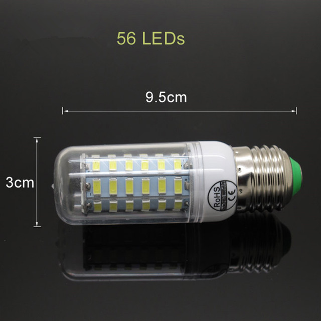 E27 LED 9W 12W 15W 20W 25W SMD5730 Lamp Light AC 220V 230V 240V 5730 Corn Bulb Chandelier Lights & Lighting Warm Cool White
