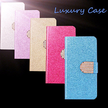 High Quality Luxury Shining Leather Flip Phone Case Cover For Samsung Galaxy S i9000 i9001 With ID Card Holder