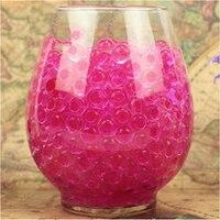 1 KG/Bag Perle Dunkel Rosa vase filler Förmigen Kristall Boden Wasser perlen Schlamm Wachsen Magische Für Jäten blume glas Decor Event liefert