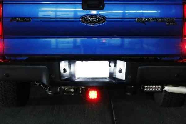 2 pçs 3 w conduziu a luz da placa de licença kit para ford f150 raptor ranger explorer expedição bronco