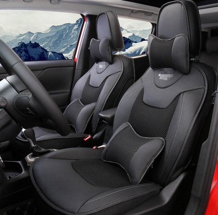 Di alta qualità! Seggiolino auto speciale copre per Jeep Renegade 2018-2016 resistente e traspirante coprisedili per Renegade 2017, Trasporto libero
