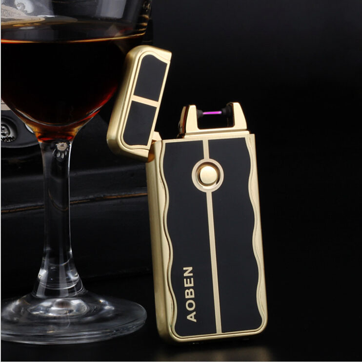 Environmental pulse arc gifts USB charging creative personality cigarette lighter free shipping