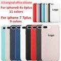Для iphone 7 case 1:1 Оригинальный Официальный Силиконовый Case Для iPhone 6 6 S 7 Плюс case Ультра Тонкий Телефон Case Cover Luxury Brand Case