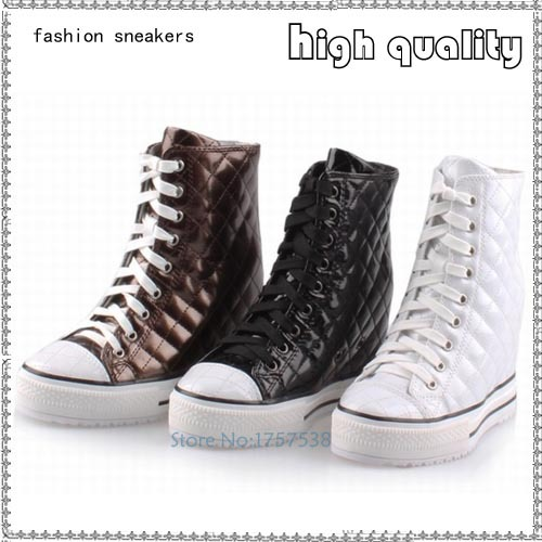 women high heels platform woman wedge high top height increasing lace up party casual ladies shoes zapatillas mujer ankle boots isabel fashion platform wedge casual shoes women height increasing shoes 2016 soft leather high top casual shoes boots