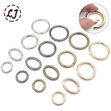5 шт./лот, открывающийся брелок с пружинным кольцом, кожаный ремень для сумки, собачья цепь, пряжка, застежка, зажим, триггер, аксессуары, сделай сам