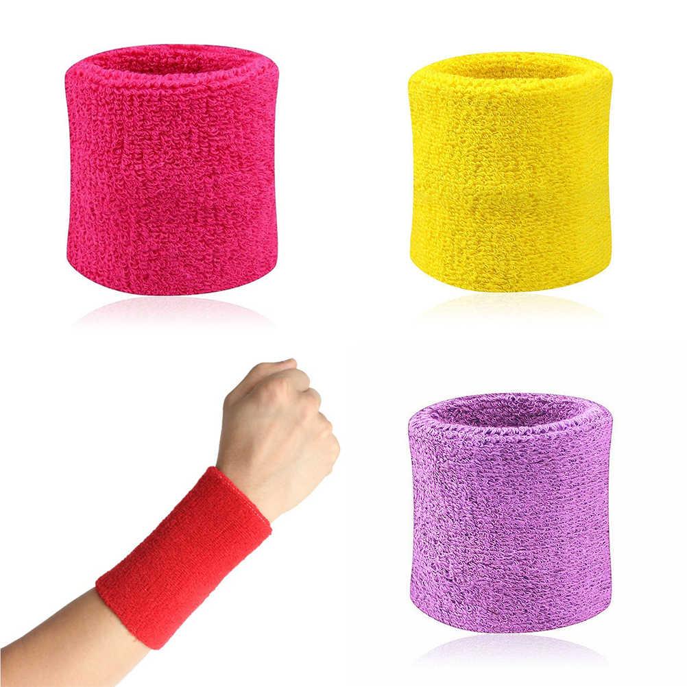 2 uds. Pulseras banda para el sudor deportiva banda de mano sudar muñequera abrazaderas para gimnasio voleibol baloncesto