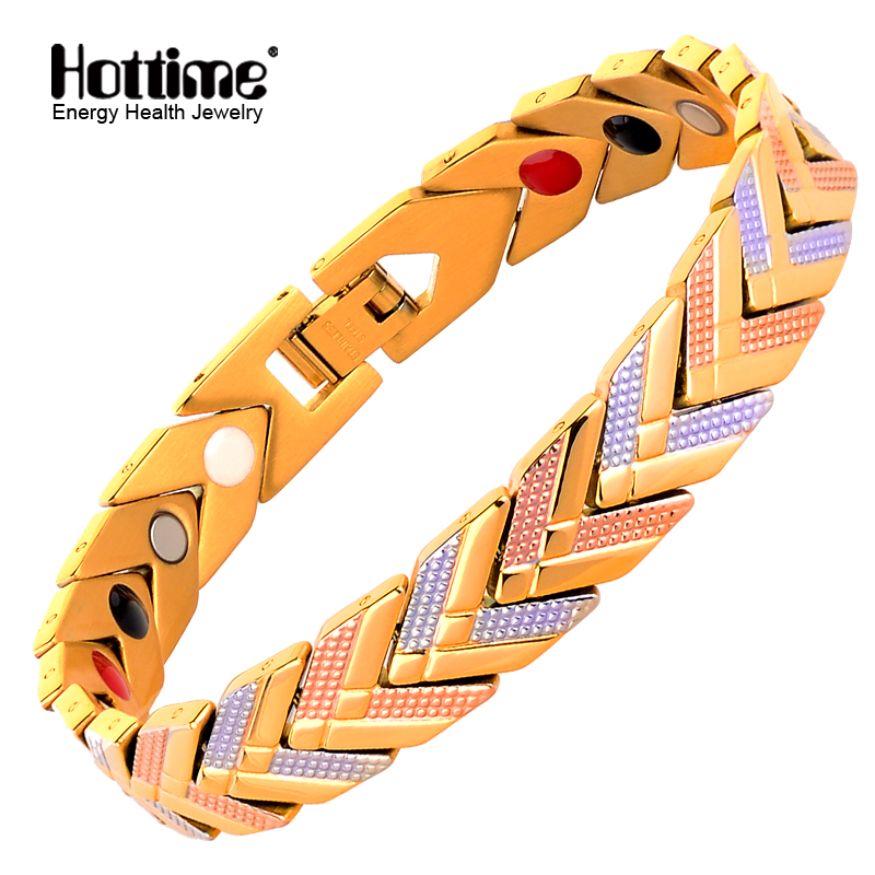 Hottime Magnetic Hologram Bracelets Bangle for Women 4 in 1 Bio Health Energy Germanium Healing Female Jewelry for ArthritisHottime Magnetic Hologram Bracelets Bangle for Women 4 in 1 Bio Health Energy Germanium Healing Female Jewelry for Arthritis