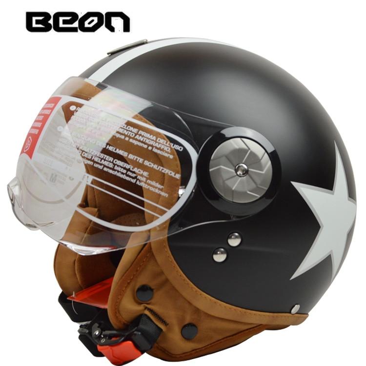 BEON B110 open face 3/4 Vintage Motorcycle helmet Motorbike Casco Capacete Jet Retro helmet scooter helmet ECE Certification