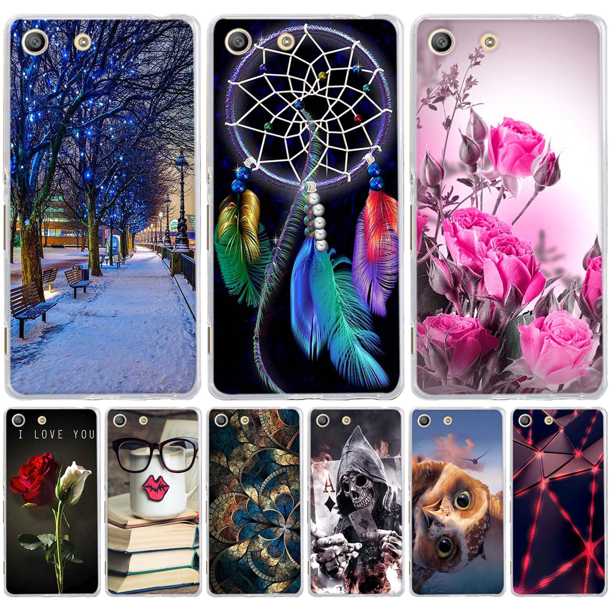 Case for Sony Xperia M5 E5603 E5606 E5653 Cover Soft Silicon Chic Patterned Painted Cover for Fundas Sony Xperia M5 Phone Cases