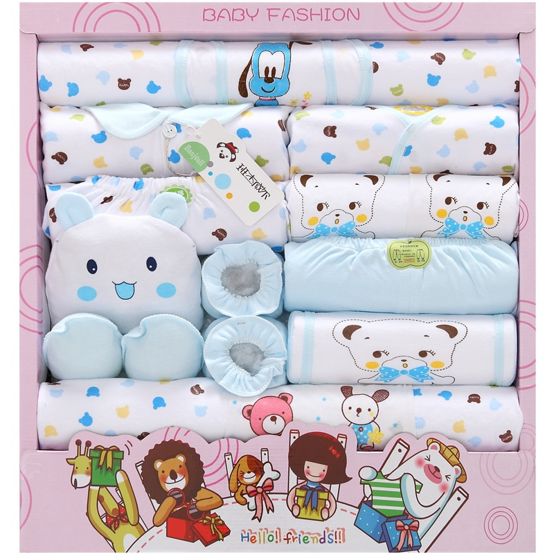 Высококачественные комплекты одежды для малышей из 100% хлопка, 18 шт. подарочный набор для новорожденного, одежда для маленьких мальчиков и д