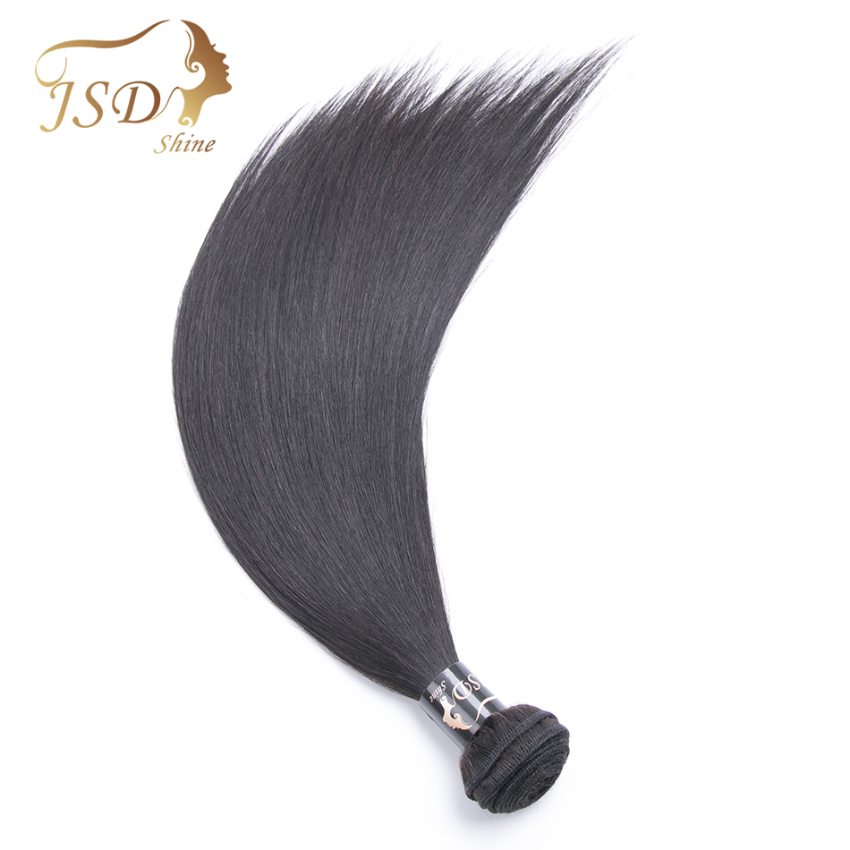 JSDShine On Sale Natural Black Color Malaysian Machine Double Weft Straight Hair Bundles Free Shipping Human Hair Extensions ...