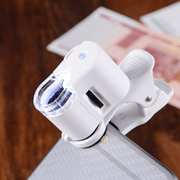 1Pcs Universal Clip Mobile Phone Microscope Magnifier Micro Lens 60X Optical Zoom Telescope Camera Lens [category]