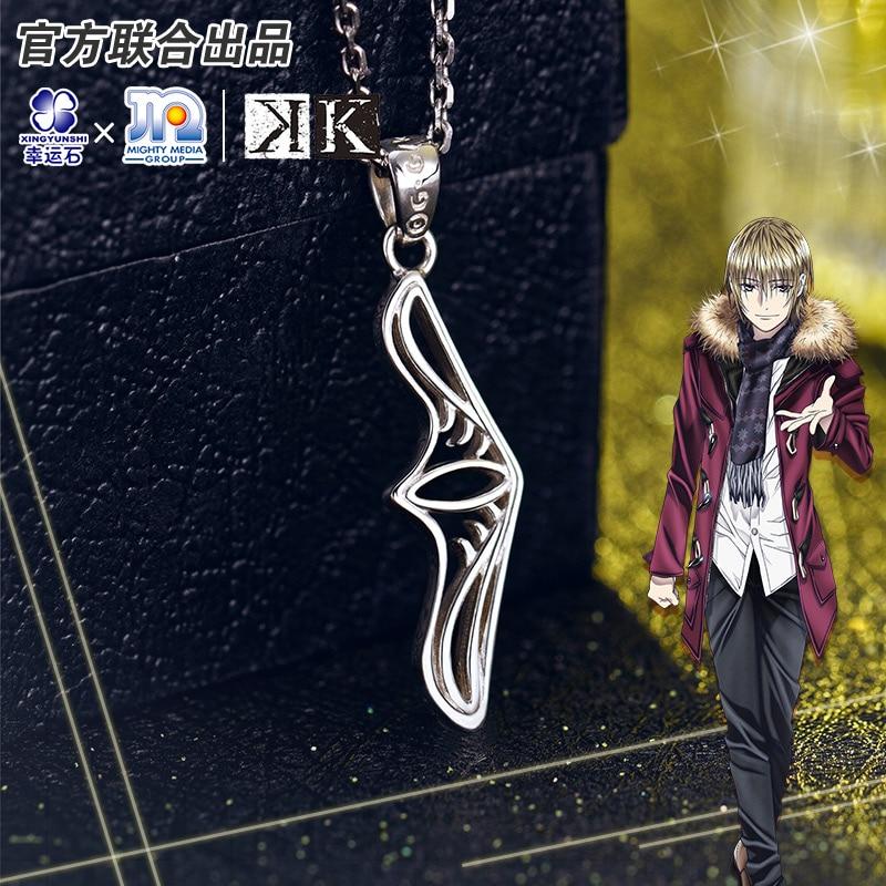 Project K Anime Pendant Totsuka Tatara Silver 925 Sterling Cartoon Character Cosplay Suoh Mikoto Homra Model