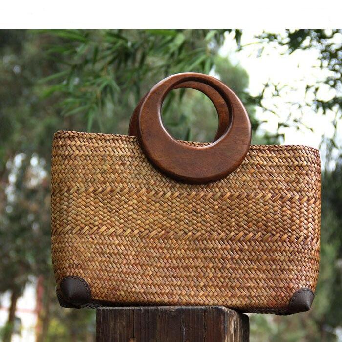 50b51d6391e 5 pares = 10 unidades, 15 cm sólido roble madera anillo o grande DIY bolsos  asas, madera al por mayor grande manija piezas en Bolsa de Piezas y  Accesorios ...