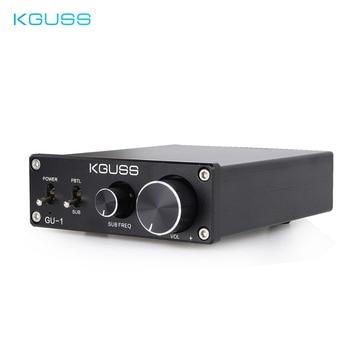 KGUSS GU-1 tpa3116d2 class d mini hifi audio amplifiers can be switched to bass amplifier NE5532P High power amplifier